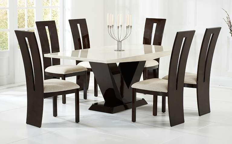 Dining Table Set Fine Dining Table Set Sets For 6 On Design Dining In Marble Dining Tables Sets (View 20 of 20)