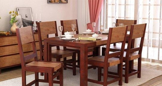 Dining Table Set Online – Buy Wooden Dining Table Sets @ 65% Off For Most Popular Wood Dining Tables And 6 Chairs (Image 14 of 20)