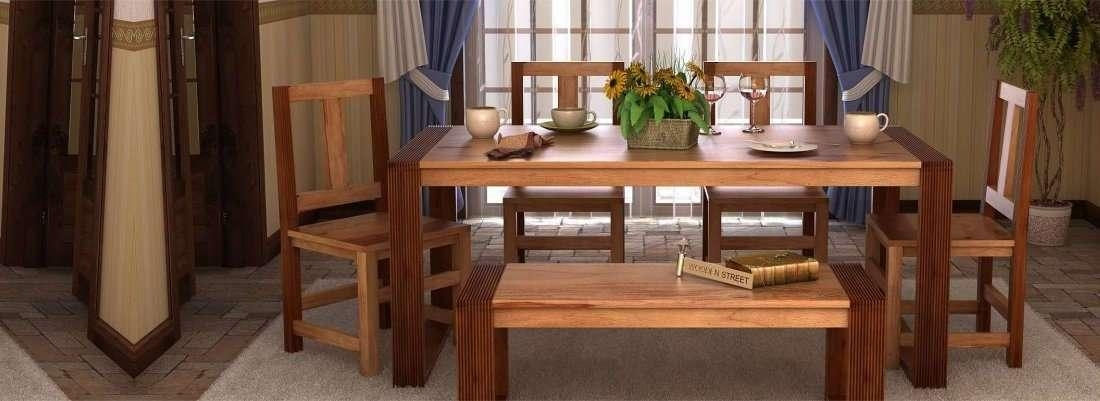 Dining Table Set Online – Buy Wooden Dining Table Sets @ 65% Off Inside Latest Wooden Dining Sets (Image 6 of 20)