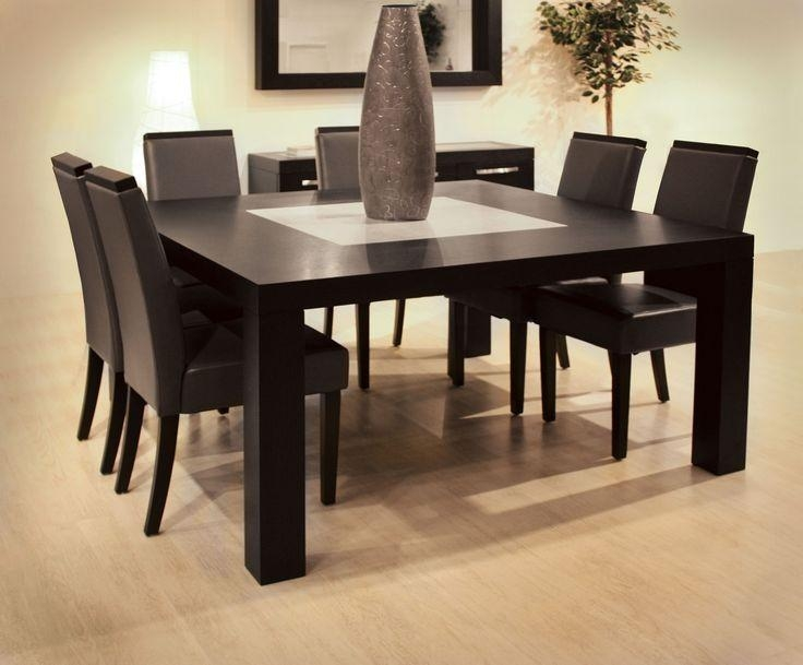 Dining Table Sets Wood Modern | Dining Room | Pinterest | Square Within Most Recent Dark Wood Square Dining Tables (Image 11 of 20)