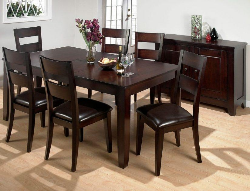 Dining Table Solid Wood Sumner Pottery Barn Extending Kitchen Intended For Most Recent Dark Brown Wood Dining Tables (Image 10 of 20)