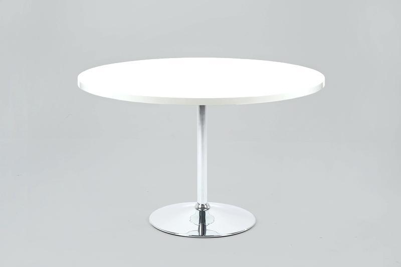 Dining Table White Becky Dining Table Becky Round White High Gloss Regarding White Gloss Dining Tables 120Cm (Image 10 of 20)