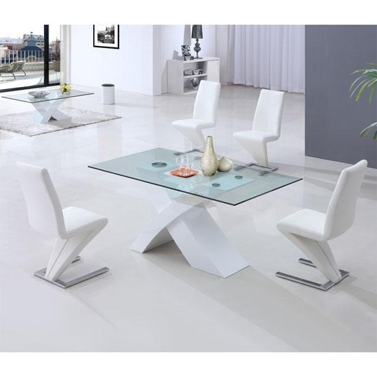 Dining Table, White Glass Dining Table | Pythonet Home Furniture In 2017 Glass Dining Tables White Chairs (Image 10 of 20)