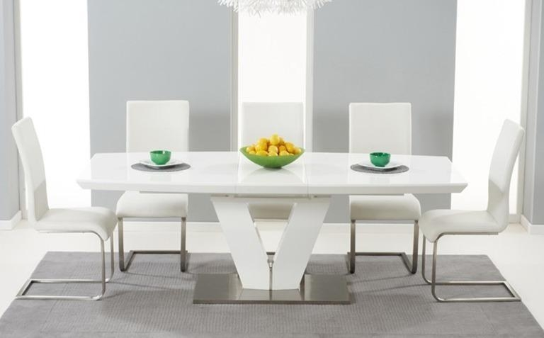 Dining Table, White Gloss Dining Table | Pythonet Home Furniture With Regard To Most Popular Extending Gloss Dining Tables (Image 3 of 20)