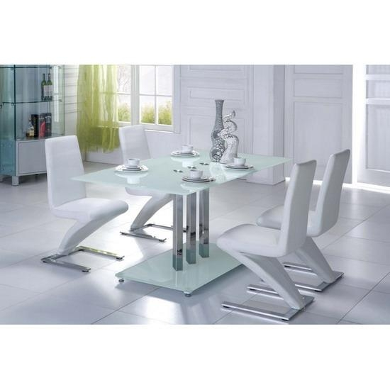 Dining Table Z Chairs – Thesecretconsul Within Most Up To Date White Glass Dining Tables And Chairs (Image 8 of 20)