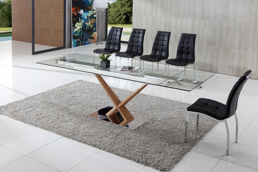Dining Tables: Awesome Extendable Glass Dining Table Designs Round Inside Current Extendable Glass Dining Tables And 6 Chairs (View 15 of 20)