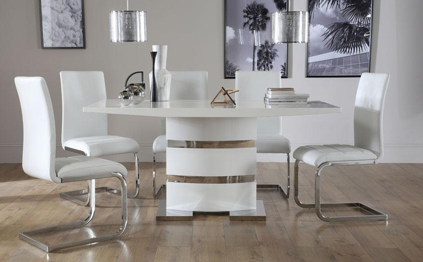 Dining Tables: Captivating Modern White Dining Table Design Ideas In Most Recently Released White Dining Tables (View 15 of 20)