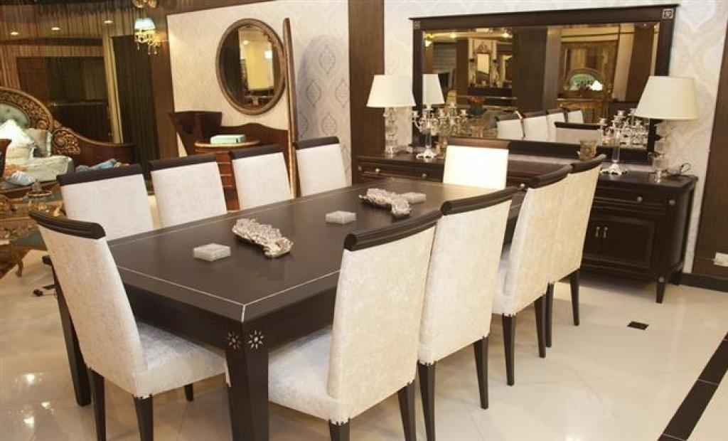 Dining Tables: Chic 10 Seat Dining Table Designs 10 Person Dining With Current 8 Chairs Dining Tables (Image 15 of 20)
