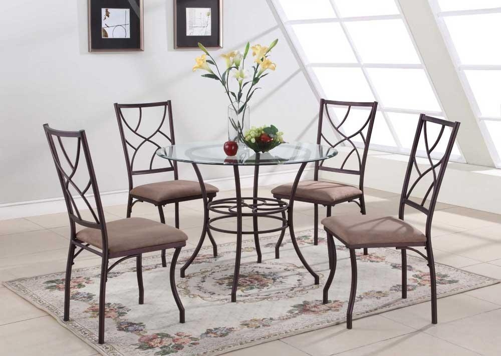 Dining Tables: Elegant Round Glass Dining Table Set Design Round Intended For Most Recently Released Round Black Glass Dining Tables And 4 Chairs (Image 10 of 20)