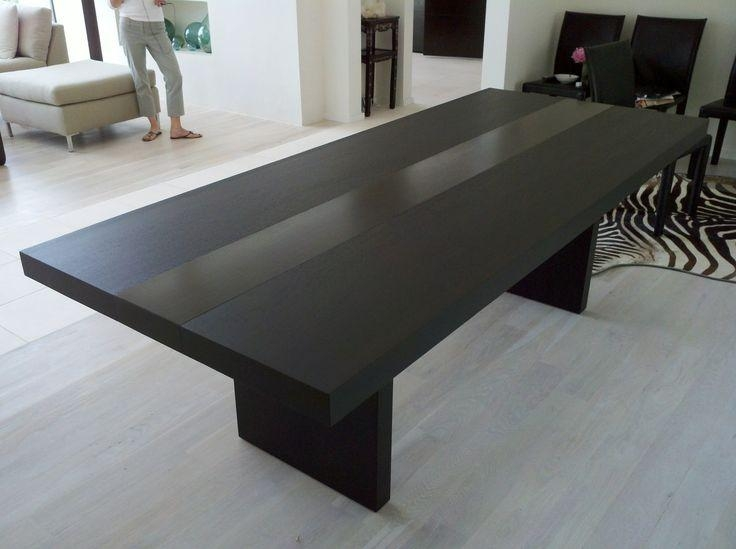 Dining Tables: Incredible Black Dining Tables Ideas Black Wood Within Most Popular Black Dining Tables (Image 14 of 20)