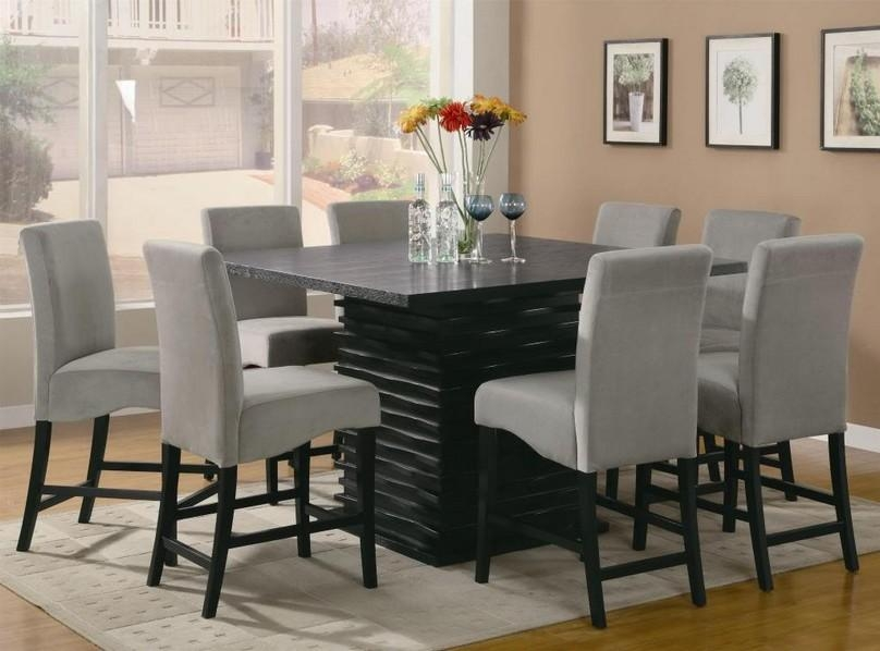 Dining Tables: Surprising Square Dining Room Table For 8 Square Pertaining To Most Current Dining Tables With 8 Chairs (Image 15 of 20)