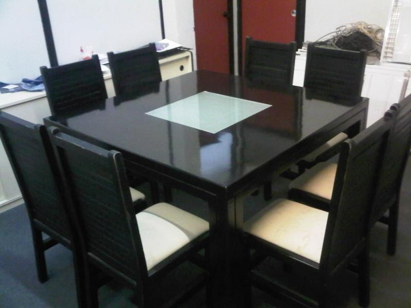 Dining Tables: Surprising Square Dining Room Table For 8 Square Within 2018 Square Black Glass Dining Tables (Image 10 of 20)