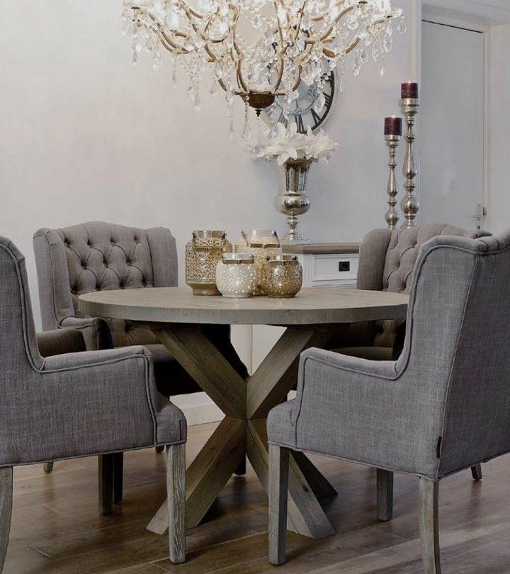 Dining Tables : Weathered Grey Round Dining Table Grey Kitchen Within Most Up To Date Dining Tables Grey Chairs (Image 15 of 20)