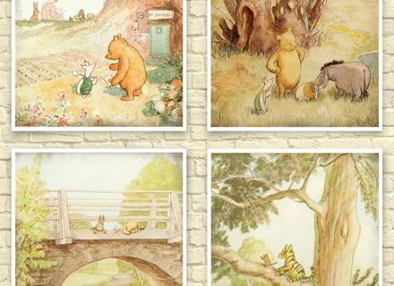 Disney Classic Winnie The Pooh Heritage Wall Art Decor Framed Regarding Classic Pooh Art (Image 15 of 20)