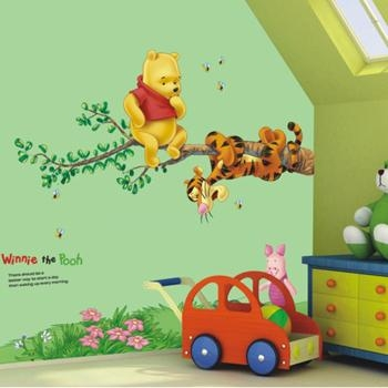 Disney Winnie Pooh Tree Home Wall Mural Window Decals Stickers For Winnie The Pooh Wall Decor (Image 7 of 20)