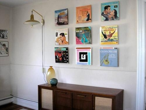 Displaying Old Album Covers As Art – Ideas From 8 Reader Homes For Album Cover Wall Art (Image 11 of 20)