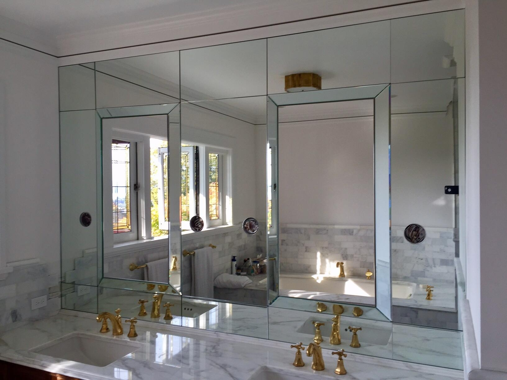 Distinctive Glass, Seattle Wa Throughout Seattle Custom Mirrors (Image 12 of 20)