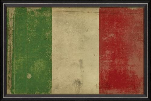 District17: Italian Flag Framed Wall Art: Framed Art Regarding Italian Flag Wall Art (Image 7 of 20)