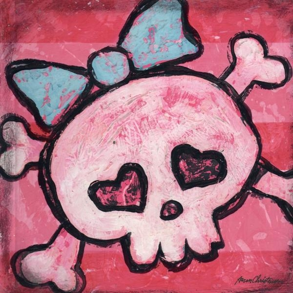 District17: Rock And Roll Girl Skull Canvas Wall Art: Canvas Wall Art With Rock And Roll Wall Art (Image 6 of 20)