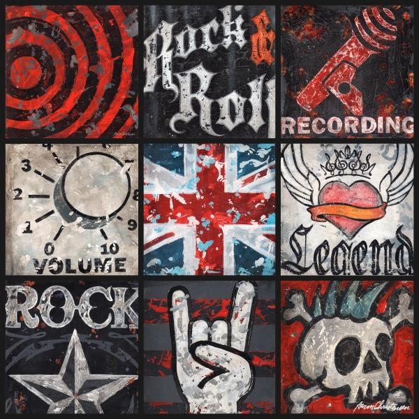 District17: Youth Rock And Roll Collage Canvas Wall Art: Canvas Regarding Rock And Roll Wall Art (Image 9 of 20)
