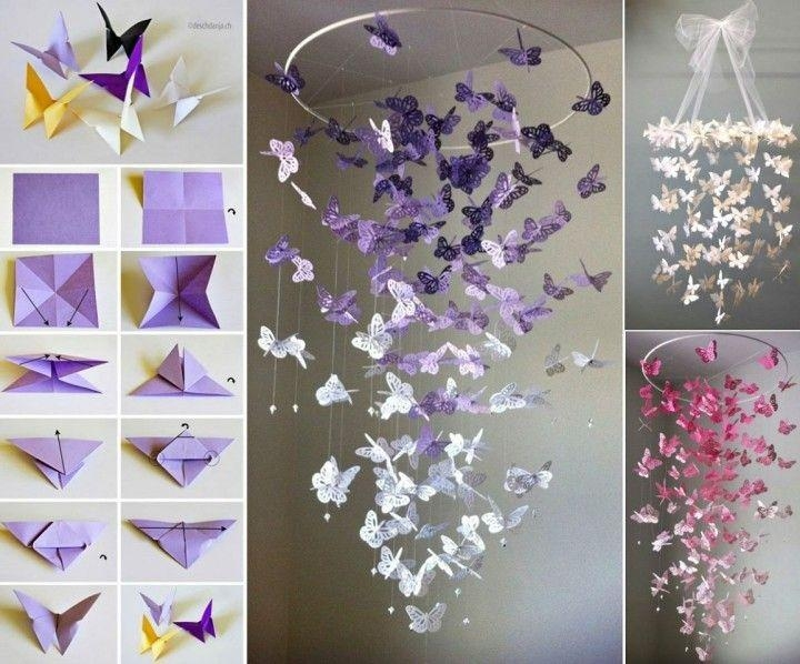 Diy Butterfly Wall Art Pictures, Photos, And Images For Facebook Inside Diy Origami Wall Art (View 13 of 20)