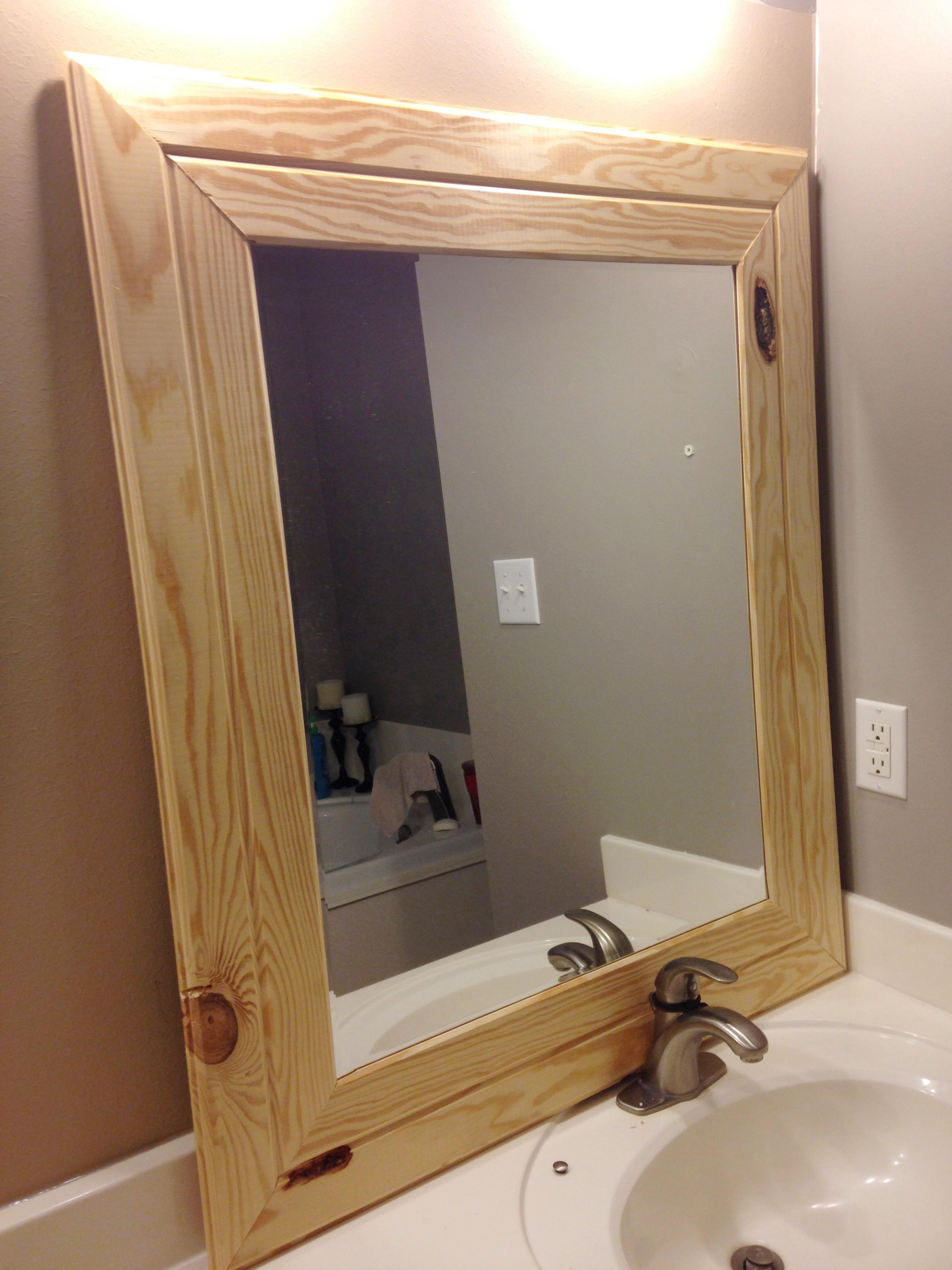 Diy Easy Framed Mirrors – Diystinctly Made Regarding Timber Mirrors (View 10 of 20)
