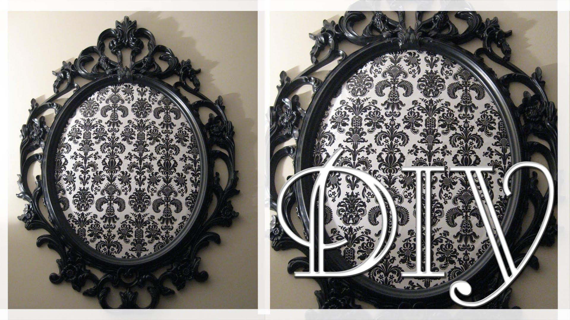 Diy Ikea Ung Drill Mirror Into Art (The Mirror Seen On Pretty Inside Damask Mirrors (View 4 of 20)