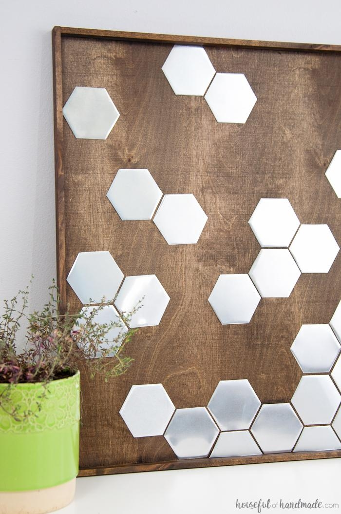 Diy Metal Hexagon Wall Art – A Houseful Of Handmade For Diy Metal Wall Art (Image 10 of 20)