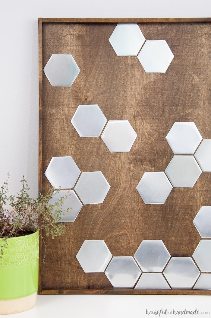 Diy Metal Hexagon Wall Art – A Houseful Of Handmade Pertaining To Diy Metal Wall Art (Image 11 of 20)