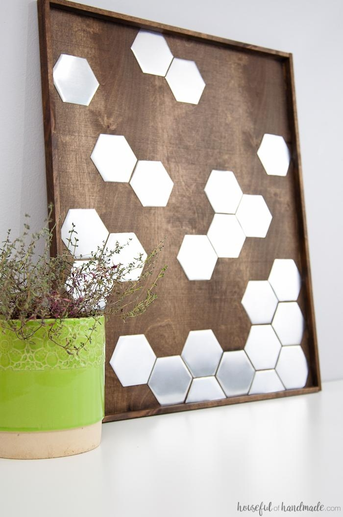 Diy Metal Hexagon Wall Art – A Houseful Of Handmade With Diy Metal Wall Art (Image 12 of 20)