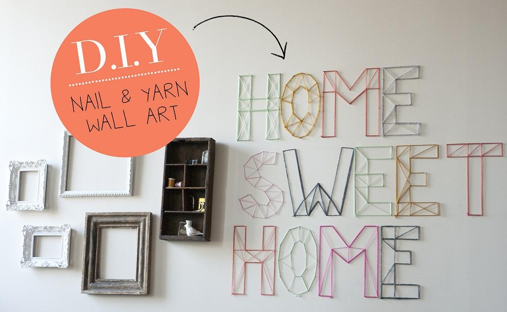 Diy | Nail And Yarn Wall Art « Jen Loves Kev Throughout Nail And Yarn Wall Art (Image 11 of 20)