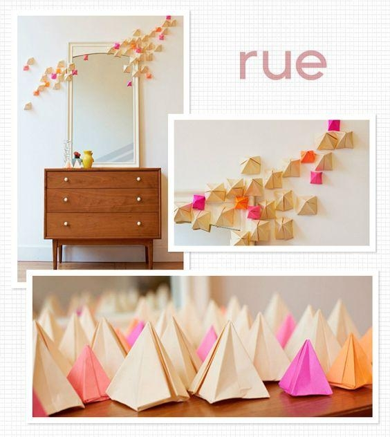 Diy Origami Wall Art, Want To Do This!!! Most Likely Not These Pertaining To Diy Origami Wall Art (Image 9 of 20)