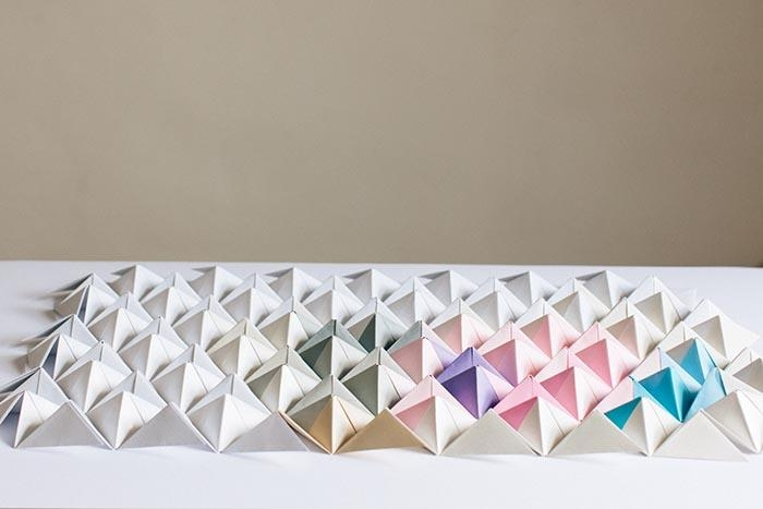 Diy Origami Wall Display – Design*sponge In Diy Origami Wall Art (Image 10 of 20)
