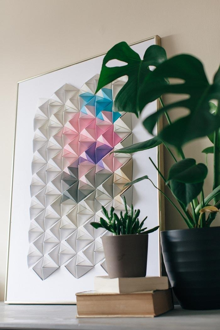Diy Origami Wall Display – Design*sponge With Regard To Diy Origami Wall Art (Image 13 of 20)