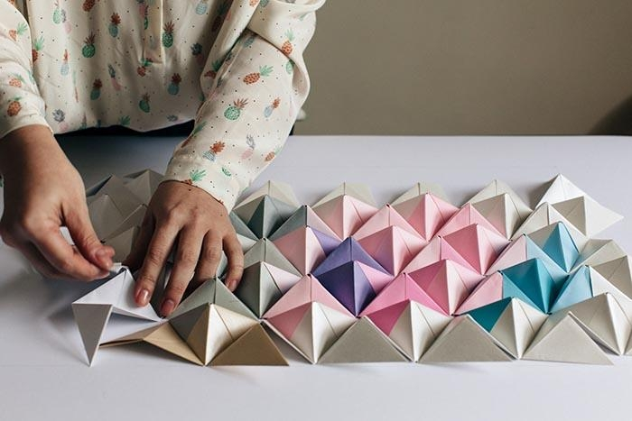 Diy Origami Wall Display – Design*sponge With Regard To Diy Origami Wall Art (View 4 of 20)