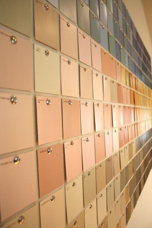 Diy Paint Swatch Wall Art | Kristen Mcashan Intended For Paint Swatch Wall Art (Image 14 of 20)