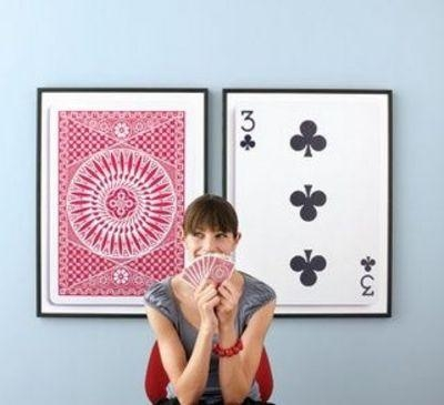 Diy Playing Cards Wall Art; Perfect For A Game Room #cards Regarding Wall Art For Game Room (Image 11 of 20)