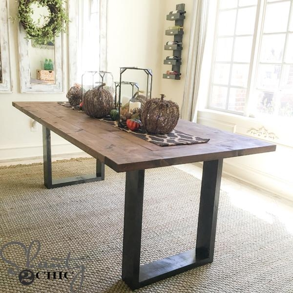 Diy Rustic Modern Dining Table – Shanty 2 Chic Inside 2018 Modern Dining Tables (Image 15 of 20)