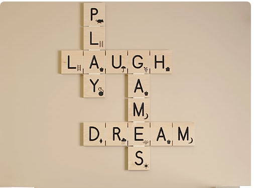 Diy Scrabble Tile Wall Art – Decorchick! ® Inside Scrabble Letter Wall Art (Image 9 of 20)