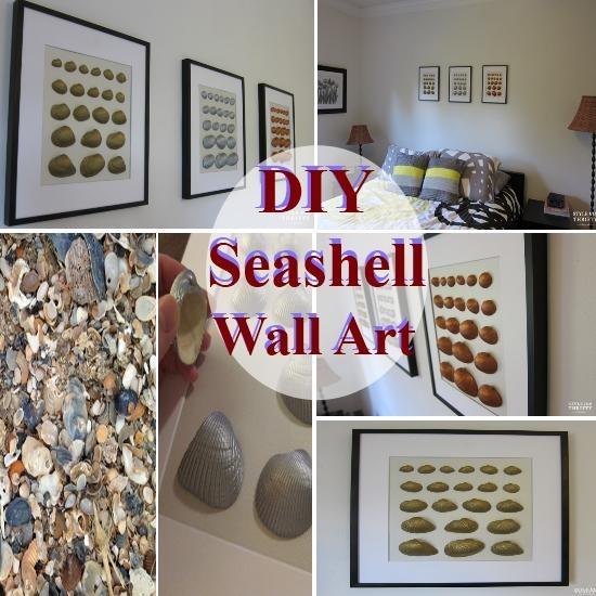Diy Seashell Wall Art | | Diycozyworld – Home Improvement And Inside Wall Art With Seashells (Image 18 of 20)