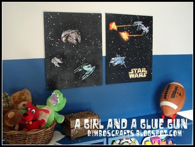 Diy Star Wars Canvas Wall Art – Geek Crafts Pertaining To Diy Star Wars Wall Art (Image 15 of 20)