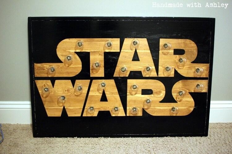 Diy Star Wars Marquee Wall Art Tutorial – Handmade With Ashley Within Diy Star Wars Wall Art (View 2 of 20)