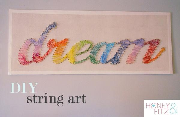 Diy String Art Tutorial: 10 Steps (With Pictures) Regarding Nail And Yarn Wall Art (Image 13 of 20)