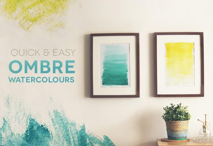 Diy Tutorial Diy Watercolor / Diy Ombre Watercolour Wall Art Regarding Diy Watercolor Wall Art (Photo 8 of 20)