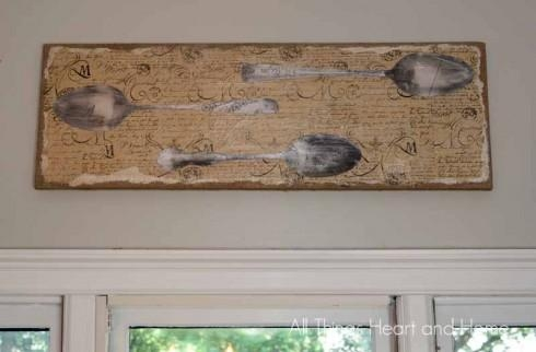 Diy Vintage Silverware Wall Art – All Things Heart And Home For Silverware Wall Art (View 14 of 20)