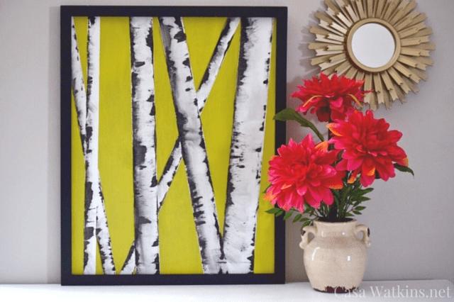 Diy Wall Art Hop Flip Flop: Birch Tree Art – Casa Watkins Living Inside Flip Flop Wall Art (Image 10 of 20)