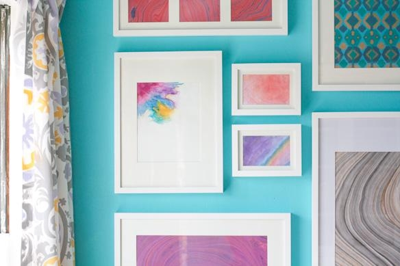 Diy Watercolor Art | Glitter & Goat Cheese Within Diy Watercolor Wall Art (Image 9 of 20)