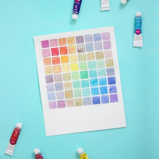 Diy Watercolor Paint Chart Wall Art | Dwellinggawker Within Diy Watercolor Wall Art (Image 10 of 20)