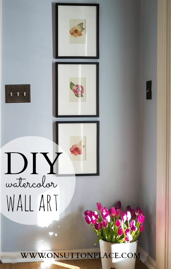 Diy Watercolor Wall Art – On Sutton Place Intended For Diy Watercolor Wall Art (Image 11 of 20)