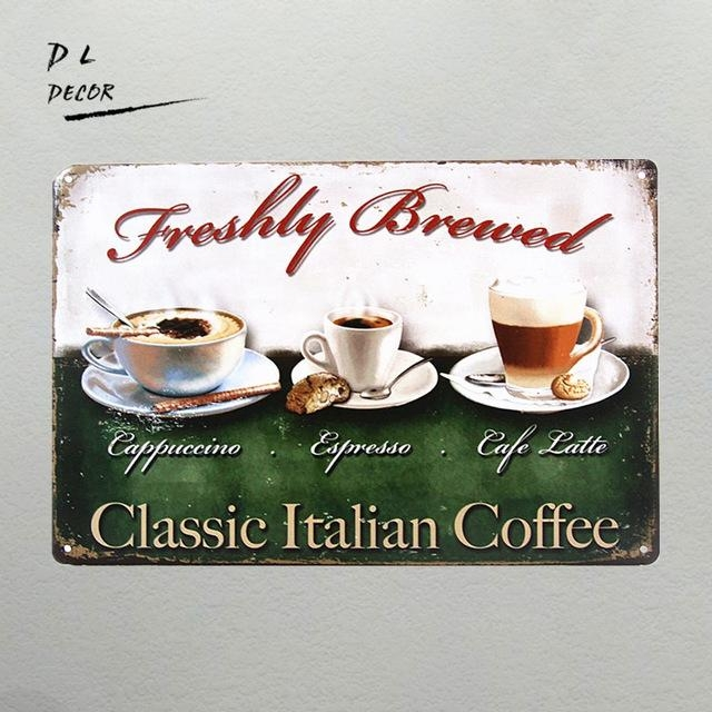 Dl Vintage Home Decor Classic Italian Coffee Wall Sticker Wall Art Regarding Italian Coffee Wall Art (Image 10 of 20)